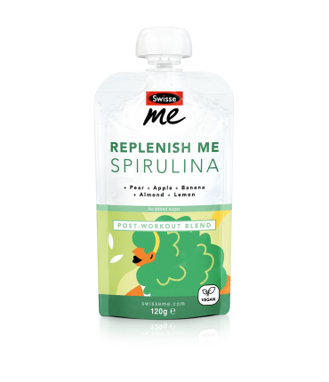 Replenish Me Spirulina post-workout blend front